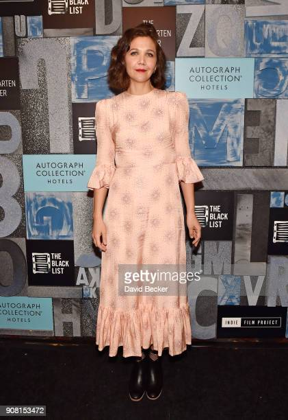 Actor Maggie Gyllenhaal attends cocktails hosted by Autograph Collection Hotels to Celebrate Maggie Gyllenhaal as Independent Film Advisor for the...