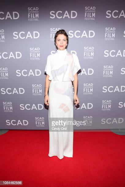 Actor Maggie Gyllenhaal attends the 21st SCAD Savannah Film Festival opening night on October 27, 2018 in Savannah, Georgia.