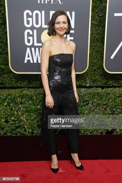 Actor Maggie Gyllenhaal attends The 75th Annual Golden Globe Awards at The Beverly Hilton Hotel on January 7 2018 in Beverly Hills California