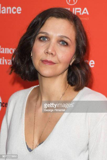 Actor Maggie Gyllenhaal attends the 'The Kindergarten Teacher' Premiere during the 2018 Sundance Film Festival at Park City Library on January 19...
