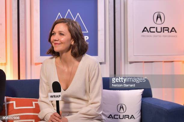 Actor Maggie Gyllenhaal of 'The Kindergarten Teacher' attends the Acura Studio at Sundance Film Festival 2018 on January 21 2018 in Park City Utah
