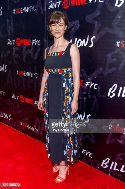 Actor Maggie Siff attends Showtime's Billions For Your Consideration Red Carpet Event at NYIT Auditorium on May 5 2017 in New York City
