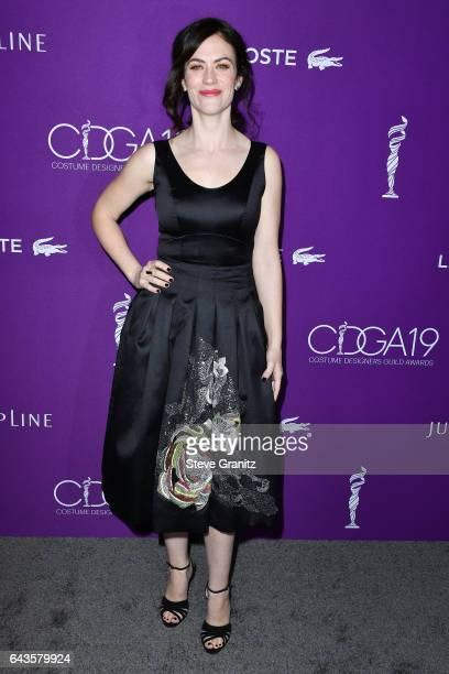 Actor Maggie Siff attends The 19th CDGA with Presenting Sponsor LACOSTE at The Beverly Hilton Hotel on February 21, 2017 in Beverly Hills, California.