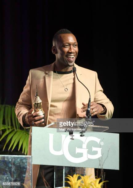 Actor Mahershala Ali accetps the Virtuosos Award presented by UGG during the 32nd Santa Barbara International Film Festival at the Arlington Theatre...