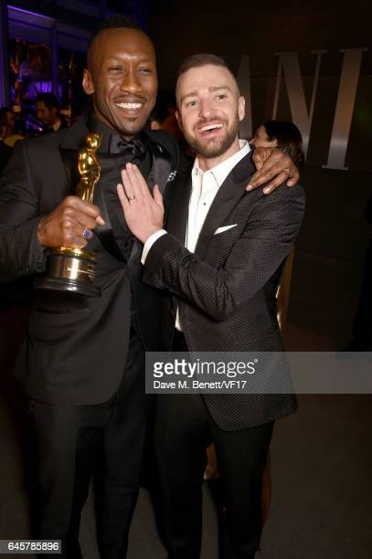 Actor Mahershala Ali and singer/actor Justin Timberlake attend the 2017 Vanity Fair Oscar Party hosted by Graydon Carter at Wallis Annenberg Center...