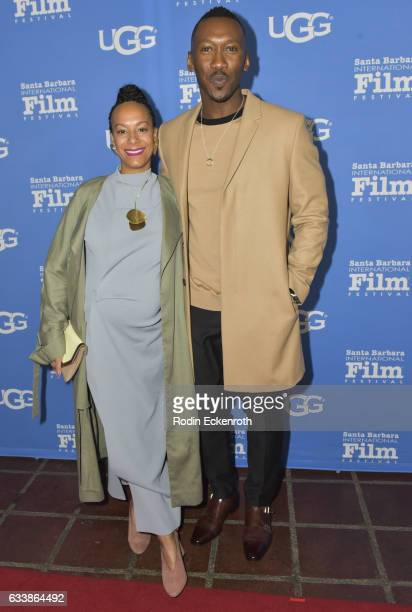 Actor Mahershala Ali and wife Amatus SamiKarim attend 32nd Santa Barbara International Film Festival Virtuosos on February 4 2017 in Santa Barbara...