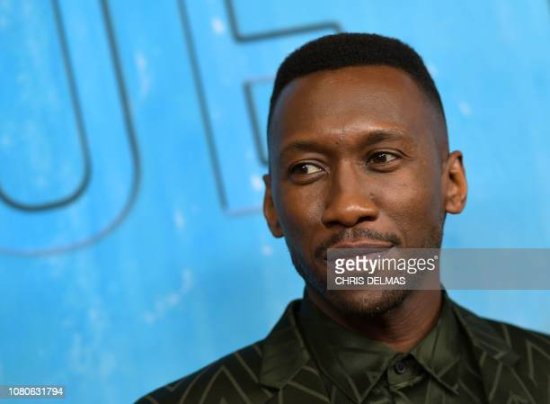 US actor Mahershala Ali arrives for the Los Angeles Premiere of HBO's series True Detective season 3 at the Directors Guild of America on January 10...