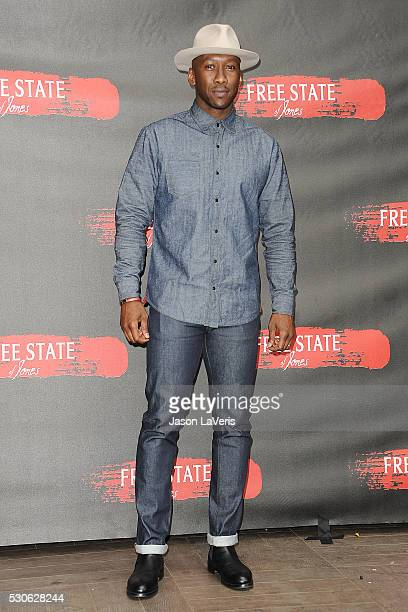 Actor Mahershala Ali attends a photo call for Free State of Jones at Four Seasons Hotel Los Angeles at Beverly Hills on May 11 2016 in Los Angeles...