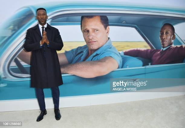 TOPSHOT Actor Mahershala Ali attends the Premiere of 'Green Book' at The Paris Theatre on November 13 2018 in New York City
