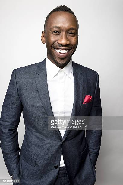 Actor Mahershala Ali poses for a portraits at the BAFTA Tea Party at Four Seasons Hotel Los Angeles at Beverly Hills on January 7 2017 in Los Angeles...