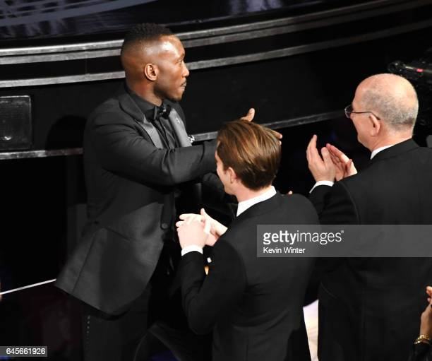 Actor Mahershala Ali wins Best Supporting Actor for 'Moonlight' onstage during the 89th Annual Academy Awards at Hollywood Highland Center on...