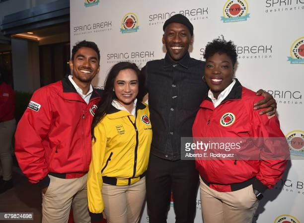 Actor Mahershala Ali with City Year AmeriCorps members at City Year Los Angeles Spring Break on May 6 2017 in Los Angeles California