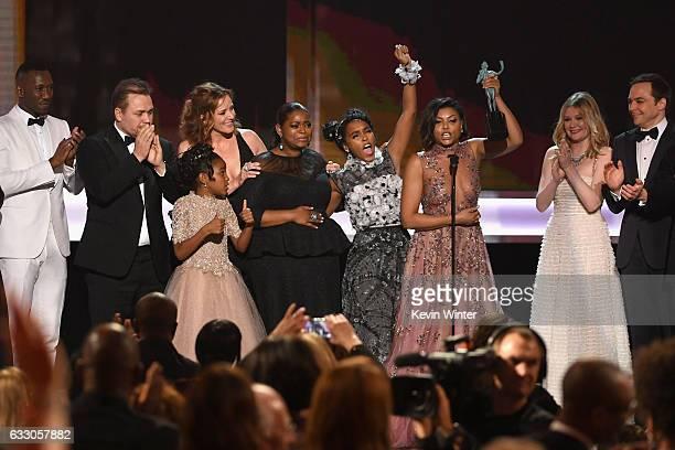 Actor Mahershala Ali, writer/director Theodore Melfi, actors Saniyya Sidney, Kimberly Quinn, Octavia Spencer, Janelle Monae, Taraji P. Henson,...