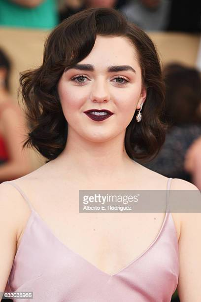 Actor Maisie Williams attends the 23rd Annual Screen Actors Guild Awards at The Shrine Expo Hall on January 29 2017 in Los Angeles California