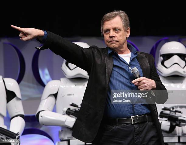 Actor Makr Hamill speaks onstage during Star Wars Celebration 2015 on April 16 2015 in Anaheim California