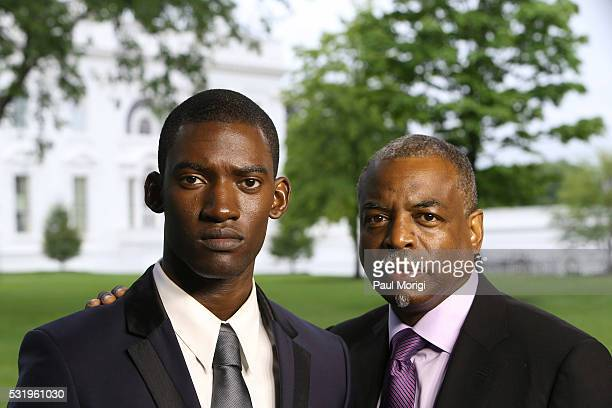 Actor Malachi Kirby and coexecutive producer LeVar Burton attend as HISTORY brings the 'Roots' cast and Ccrew to The White House for a screening at...