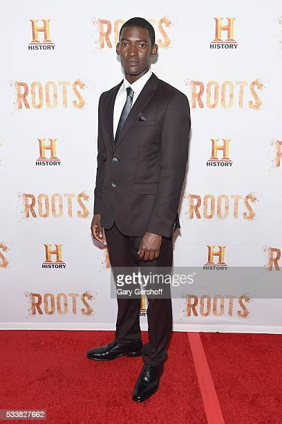 Actor Malachi Kirby who plays Kunta Kinte attends the Roots night one screening at Alice Tully Hall Lincoln Center on May 23 2016 in New York City