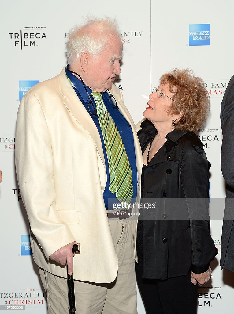 Actor Malachy McCourt (L) and Anita Gillette attends Tribeca Film's Special New York Screening Of 'The Fitzgerald Family Christmas' at Tribeca Grand Hotel on November 27, 2012 in New York City.