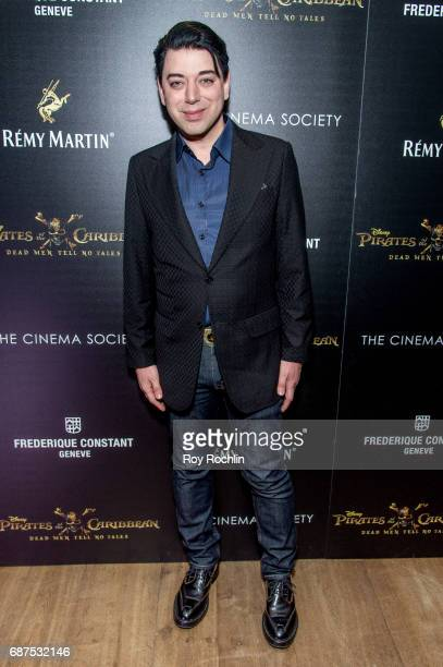 Actor Malan Breton attends The Cinema Society host a screening of Pirates Of The Caribbean Dead Men Tell No Tales at Crosby Street Hotel on May 23...