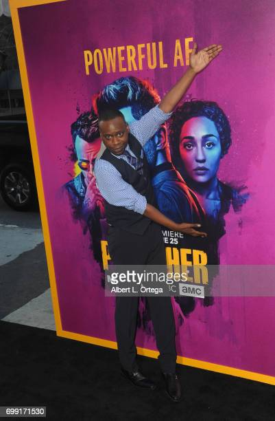 Actor Malcolm Barrett arrives for the Premiere Of AMC's 'Preacher' Season 2 held at The Theatre at Ace Hotel on June 20 2017 in Los Angeles California