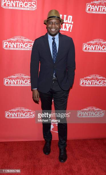 Actor Malcolm Barrett attends the Los Angeles premiere of the musical 'Hello Dolly' at the Pantages Theatre on January 30 2019 in Hollywood California