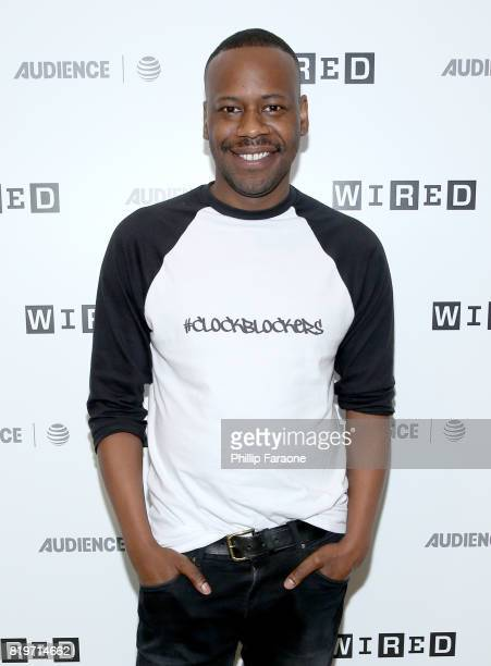Actor Malcolm Barrett of 'Timeless' at 2017 WIRED Cafe at Comic Con presented by ATT Audience Network on July 20 2017 in San Diego California
