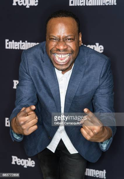Actor Malcolm Barrett of Timeless attends Entertainment Weekly People New York Upfronts at 849 6th Ave on May 15 2017 in New York City