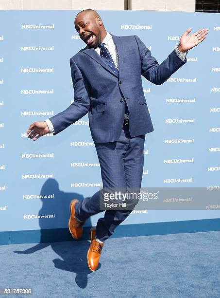 Actor Malcolm Barrett of 'Timeless' on NBC attends the NBCUniversal 2016 Upfront on May 16 2016 in New York New York