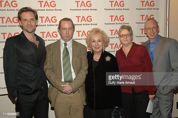 Actor Malcolm Gets TAG Executive Director Mark Harrington actress Doris Roberts TAG Board of Directors President Barbara Hughes and TAG Board of...