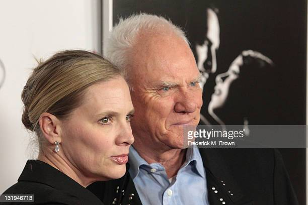"""Actor Malcolm McDowell and Kelley Kuhr arrive at """"The Artist"""" Special Screening during AFI FEST 2011 presented by Audi on November 8, 2011 in..."""