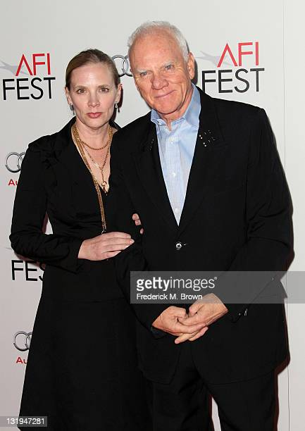 Actor Malcolm McDowell and Kelley Kuhr arrive at The Artist Special Screening during AFI FEST 2011 presented by Audi on November 8 2011 in Hollywood...
