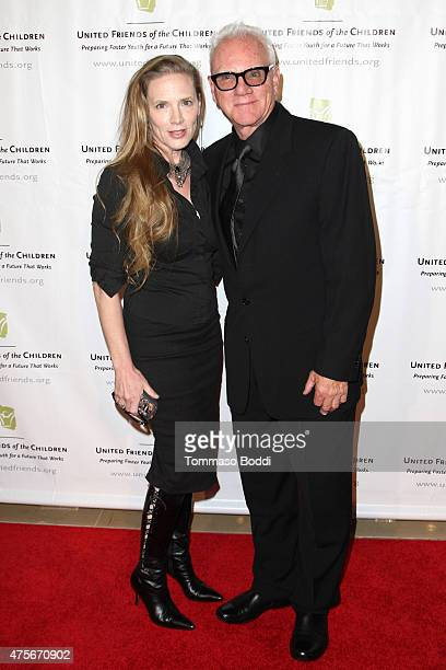 Actor Malcolm McDowell and Kelley Kuhr attend the United Friends of the Children's 12th annual Brass Ring Awards dinner at The Beverly Hilton Hotel...