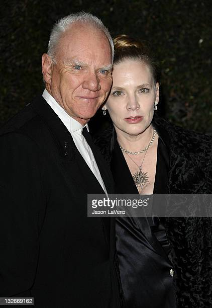 Actor Malcolm McDowell and wife Kelley Kuhr attend the Academy of Motion Picture Arts and Sciences' 3rd annual Governors Awards at Hollywood &...