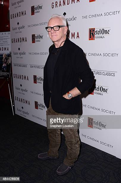 Actor Malcolm McDowell attends a screening of Sony Pictures Classics' 'Grandma' hosted by The Cinema Society and Kate Spade at Landmark Sunshine...