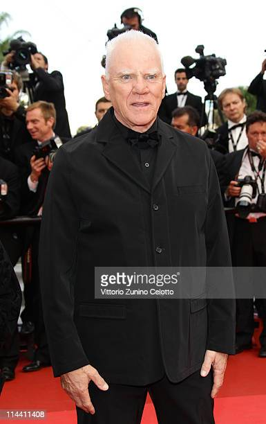 Actor Malcolm McDowell attends the The Skin I Live In premiere at the Palais des Festivals during the 64th Cannes Film Festival on May 19 2011 in...