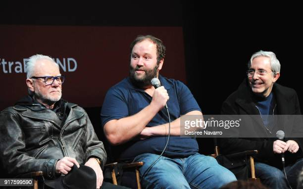 Actor Malcom McDowell showrunner Will Graham and director Paul Weitz attend SAGAFTRA Foundation Conversations 'Mozart In The Jungle' at The Robin...