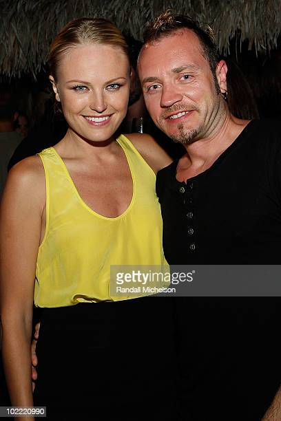 Actor Malin Akerman and husband Roberto Zincone at the Maui Film Festival Taste of Chocolate on June 18 2010 in Wailea Hawaii