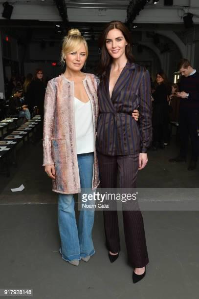 Actor Malin Akerman and model Hilary Rhoda attend the Carlisle Fall/Winter 2018 Runway Show during New York Fashion Week at Pier 59 Studios on...