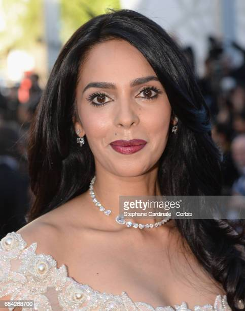 Actor Mallika Sherawat attends the 'Ismael's Ghosts ' screening and Opening Gala during the 70th annual Cannes Film Festival at Palais des Festivals...