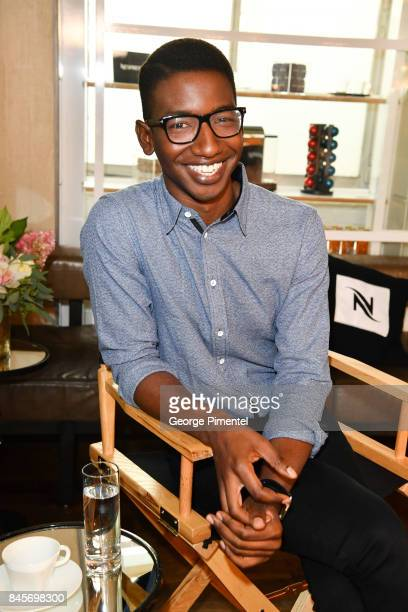 Actor Mamoudou Athie attends Nespresso coffee with creators of 'Unicorn Store' on September 11 2017 in Toronto Canada