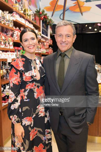 Actor Mandy Moore and The Walt Disney Company Chairman and CEO Bob Iger attend the World Premiere of Disney's RALPH BREAKS THE INTERNET at the El...
