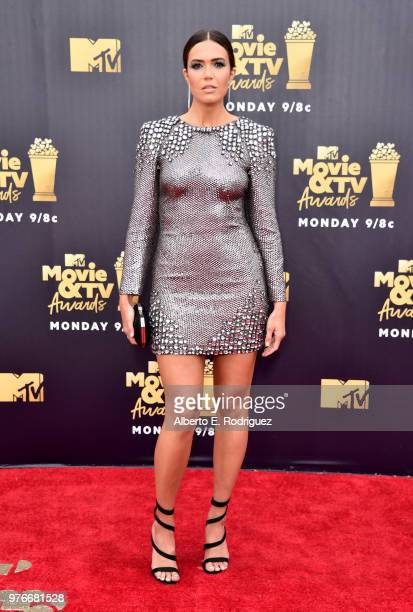 Actor Mandy Moore attends the 2018 MTV Movie And TV Awards at Barker Hangar on June 16 2018 in Santa Monica California