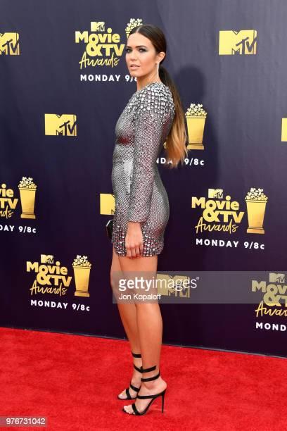 Actor Mandy Moore attends the 2018 MTV Movie And TV Awards at Barker Hangar on June 16 2018 in Santa Monica California