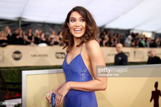 03f44a7e1d91 Actor Mandy Moore attends the 24th Annual Screen Actors Guild Awards at The  Shrine Auditorium on