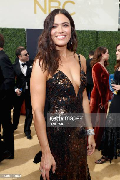 Actor Mandy Moore attends the 70th Annual Primetime Emmy Awards at Microsoft Theater on September 17 2018 in Los Angeles California