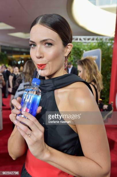 Actor Mandy Moore attends The 75th Annual Golden Globe Awards at The Beverly Hilton Hotel on January 7 2018 in Beverly Hills California