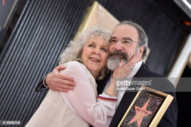 Actor Mandy Patinkin and wife Kathryn Grody attend the ceremony honoring Mandy Patinkin with star on the Hollywood Walk of Fame on February 12 2018...