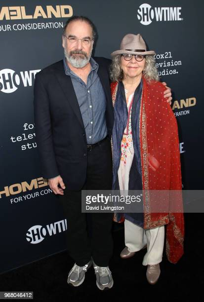 Actor Mandy Patinkin and wife Kathryn Grody attend the FYC event for Showtime's Homeland at the Writers Guild Theater on June 5 2018 in Beverly Hills...