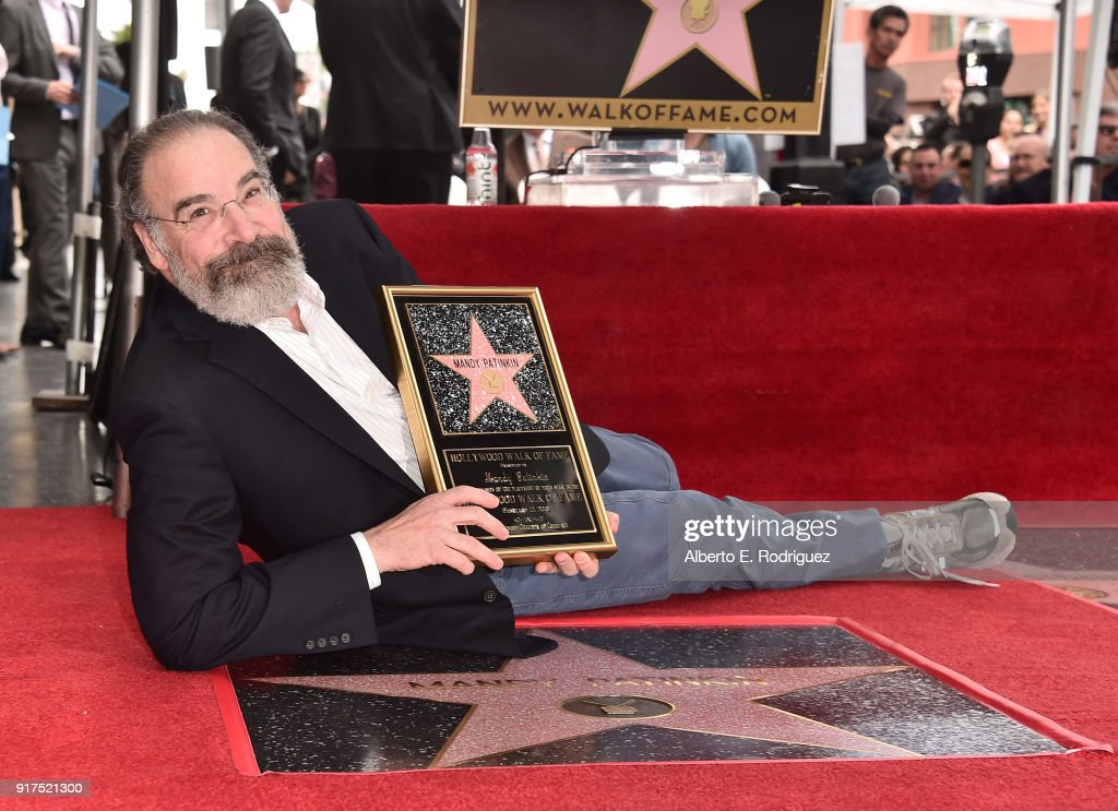 Actor Mandy Patinkin attends a ceremony honoring him with the 2,629th star on the Hollywood Walk of Fame on February 12, 2018 in Hollywood, California.