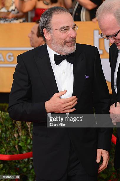 Actor Mandy Patinkin attends the 20th Annual Screen Actors Guild Awards at The Shrine Auditorium on January 18 2014 in Los Angeles California
